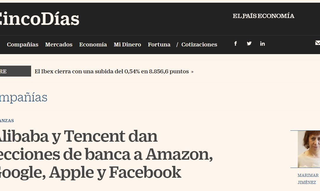 Alibaba y Tencent dan lecciones de banca a Amazon, Google, Apple y Facebook